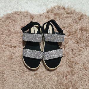 Fashion Nova Rhinestone Espadrille Sandals